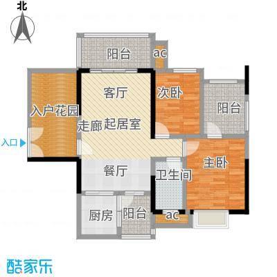 纯棉时代84.00㎡1、3幢02室(偶数层) 二房二厅一卫可变换为五房户型2室2厅1卫