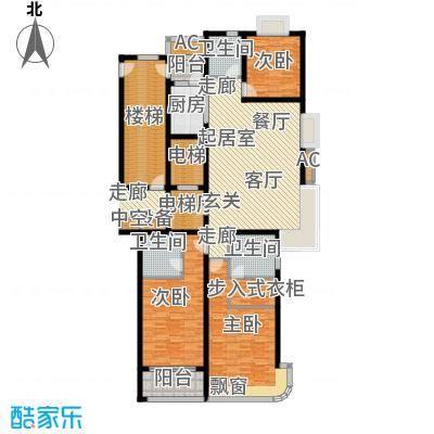 鲁商中心户型3室3卫1厨