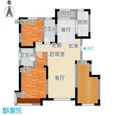 万科魅力之城二期100.00㎡三室二厅二卫户型3室2厅2卫