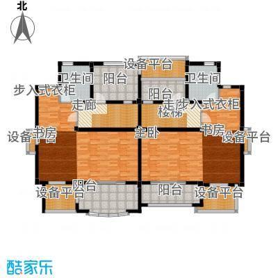 碧桂园温泉城78.68㎡双拼H24-c二层 四房二厅三卫户型