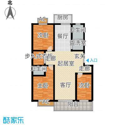 北小郭三期工程146.09㎡3室2厅1卫