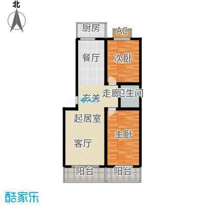 北小郭三期工程117.24㎡2室2厅1卫