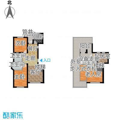 北国奥林匹克花园98.65㎡C5户型 2室2厅2卫户型2室2厅2卫