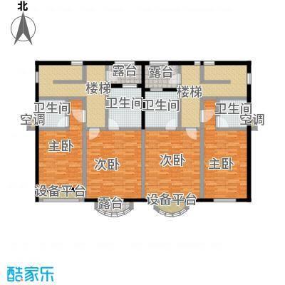 咸宁碧桂园213.00㎡G28户型三层 四房两厅五卫户型4室2厅5卫