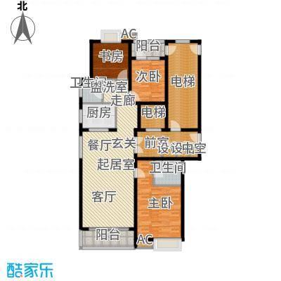 鲁商中心153.00㎡2号楼C户型三室两厅两卫户型3室2厅2卫