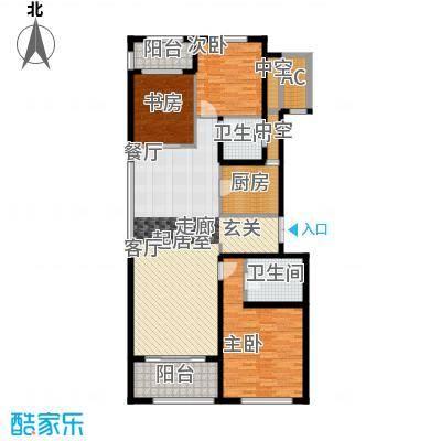 九龙仓国宾1号国宾山130.00㎡A户型3室2厅2卫