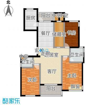 金色水岸三室二厅二卫――143平米户型