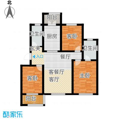 天津未来城118.23㎡G户型3室2厅2卫