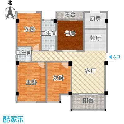 锦绣嘉园116.70㎡H15#01/07单元户型10室