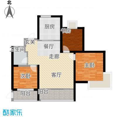 海天雅筑户型3室1厅1卫1厨