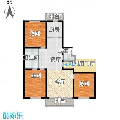 畅心园132.04㎡畅心园9号楼 户型 面积132.04平方米户型3室1厅2卫