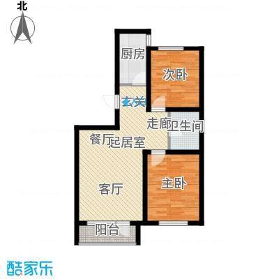 伯爵源筑91.89㎡11号楼C户型两室两厅一卫户型QQ