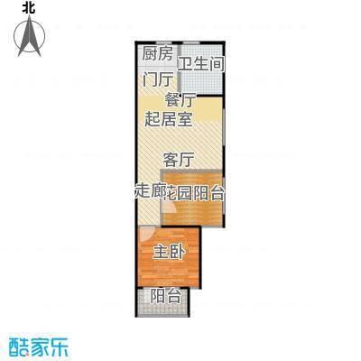 中海紫御公馆70.00㎡双景雅寓户型1室1厅1卫