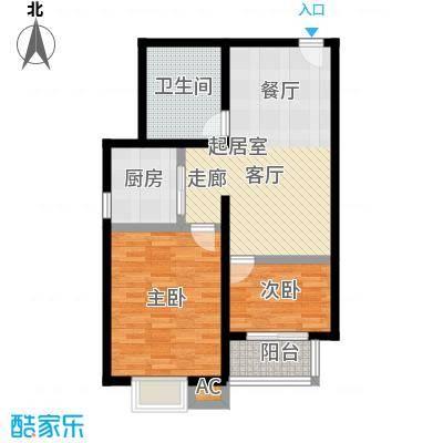 吉隆公寓72.18㎡C一室一厅一卫户型1室1厅1卫