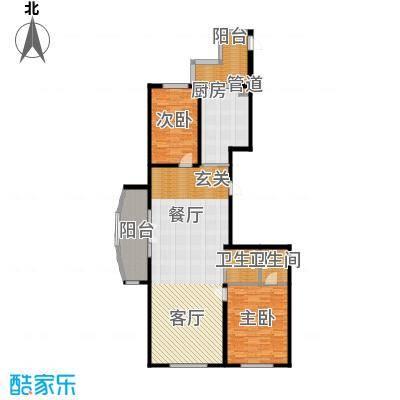 畅心园134.91㎡1号楼A2户型134.91平方米户型2室1厅2卫