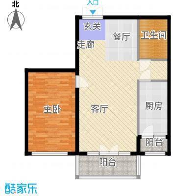 畅心园81.23㎡3号楼C户型81.23平方米户型