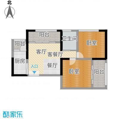 晓庄国际广场78.06㎡A型户型1厅1卫1厨