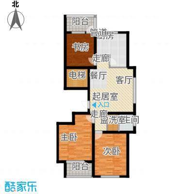 金马怡园105.50㎡三室两厅一卫户型3室2厅1卫