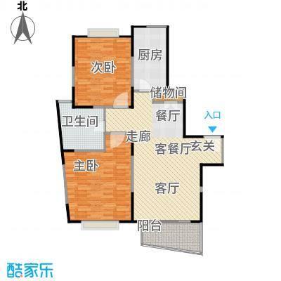 城建隽合花园户型2室1厅1卫1厨