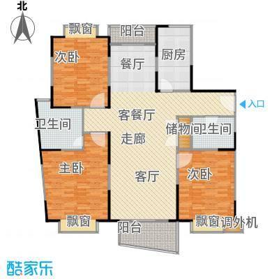 城建隽合花园户型3室1厅2卫1厨
