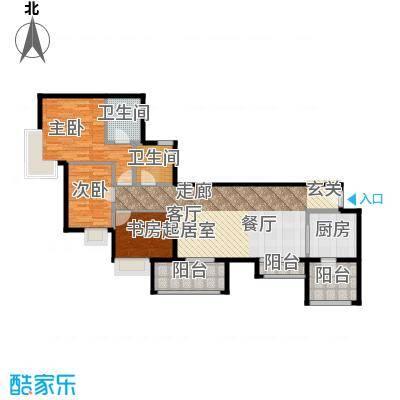 方圆江湾水恋98.00㎡BE户型3室2卫1厨