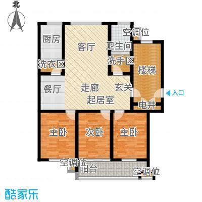 凤鸣郡123.00㎡L户型 3室2厅1卫户型3室2厅1卫