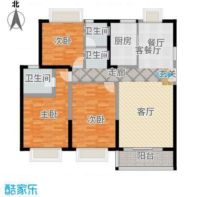 嘉逸岭湾户型3室1厅2卫1厨