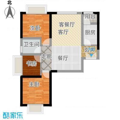 嘉逸岭湾户型3室1厅1卫1厨