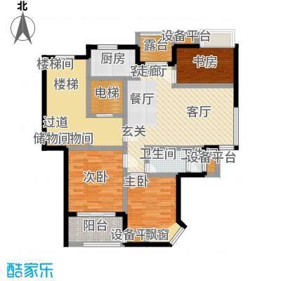 亚东朴园105.00㎡S2户型2室2厅1卫