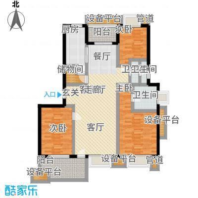 亚东朴园135.00㎡P1户型3室2厅2卫