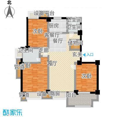 亚东朴园户型3室1厅3卫1厨