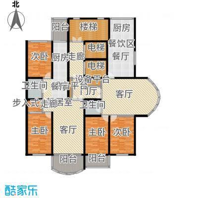 金榜苑户型4室1厅2卫