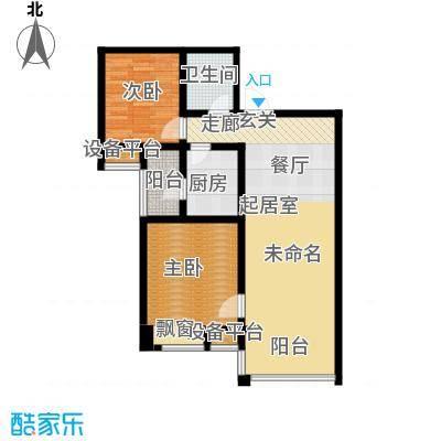 太原昌盛双喜城103.26㎡16号楼B户型 两室两厅一卫户型2室2厅1卫