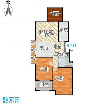 金山福地二期111.00㎡三室二厅一卫 面积:102-111平方米户型3室2厅1卫