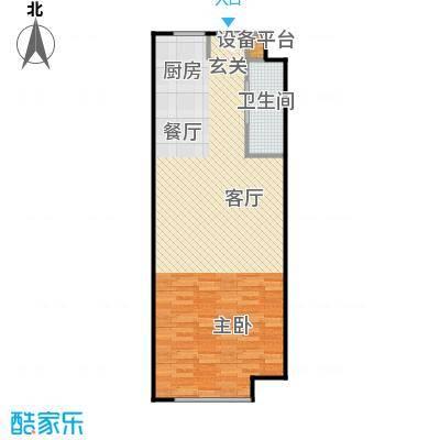 泰晤士广场户型1室1卫