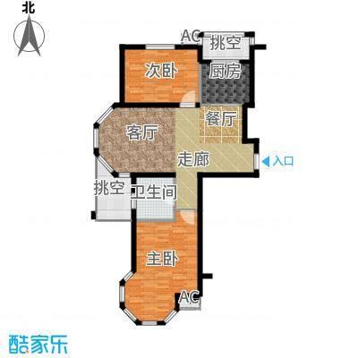 北国奥林匹克花园95.01㎡M户型 2室2厅1卫户型2室2厅1卫