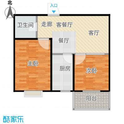 碧水云天颐园户型2室1厅1卫1厨
