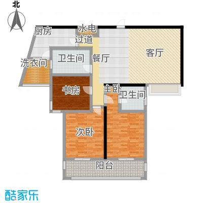 上海公馆139.25㎡3#4#B1户型3室2厅2卫