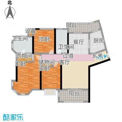 上海公馆156.78㎡3#4#C5户型3室2厅2卫