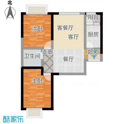 嘉逸岭湾户型2室1厅1卫1厨