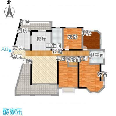 上海公馆181.28㎡3#4#D2户型4室2厅2卫