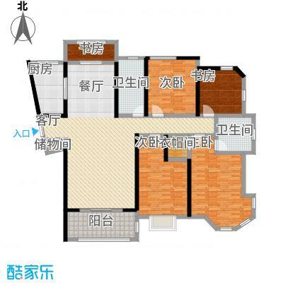 上海公馆167.41㎡2#D1户型4室2厅2卫