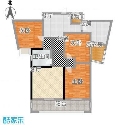 上海公馆136.48㎡2#C4户型3室2厅1卫