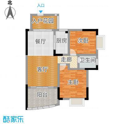 湘粤名城户型2室1厅1卫1厨