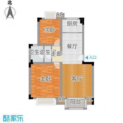 汉口春天(二期)85.00㎡房型: 二房; 面积段: 85 -93.14 平方米;户型