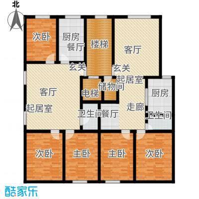 晨馨花园户型5室2卫2厨