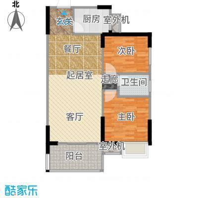 仁文大儒世家绿园户型2室1卫1厨