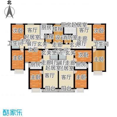 晨馨花园户型8室4卫4厨