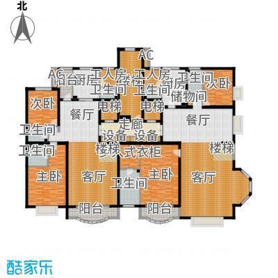亚太国际公馆E单元(跃层下)户型