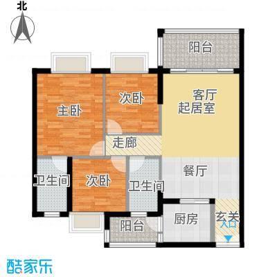 胜球阳光花园三期111.00㎡A户型3室2厅2卫